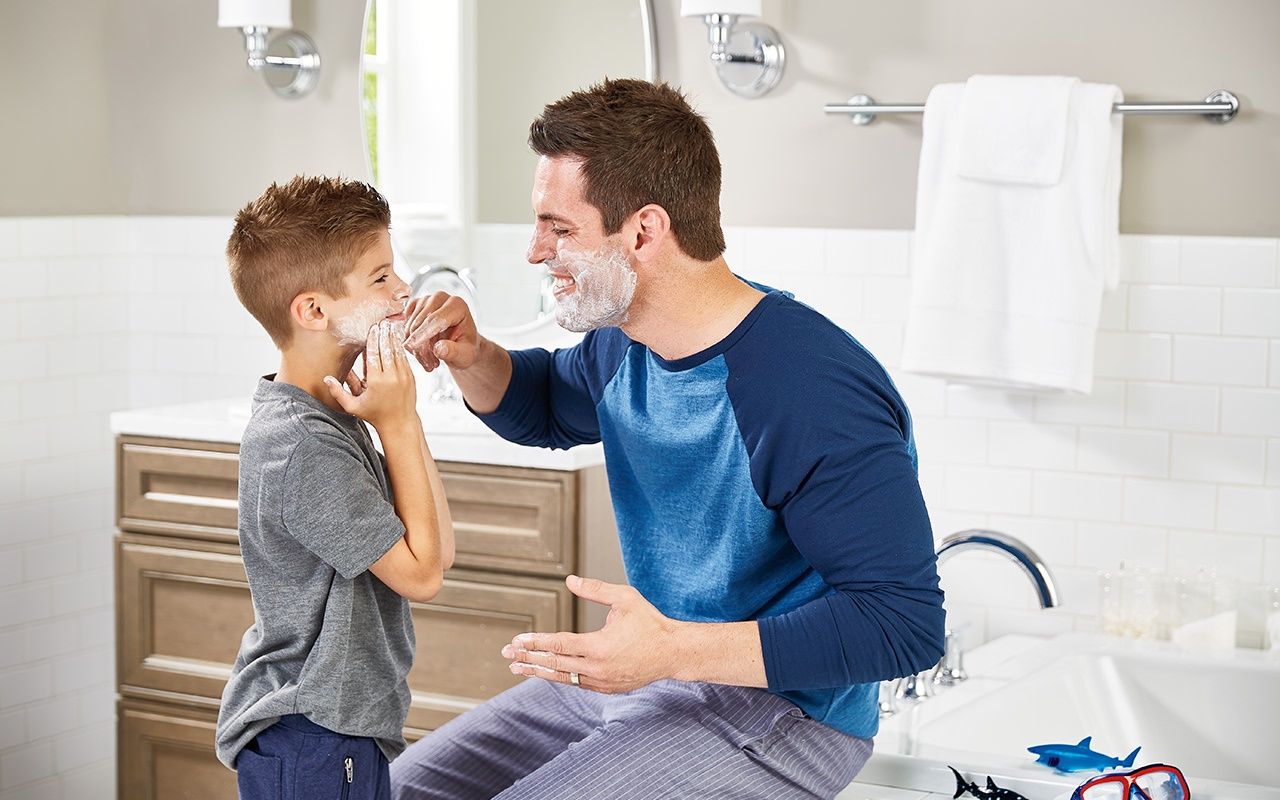 father-shaving-with-son-bathroom